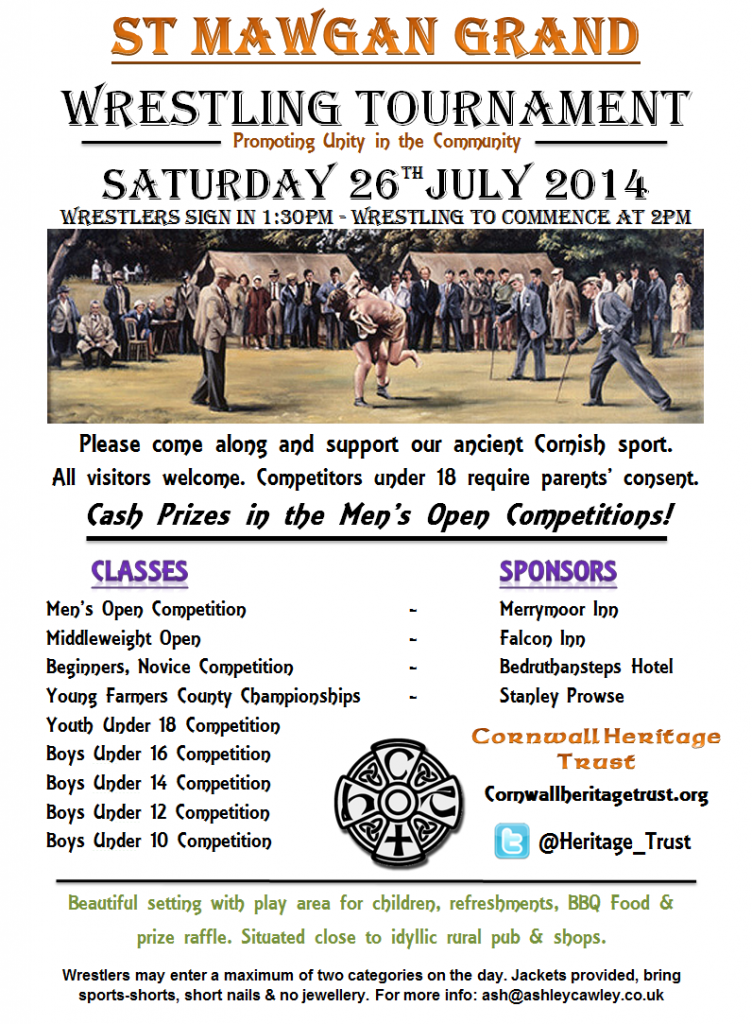 Cornish Wrestling Tournament 2014
