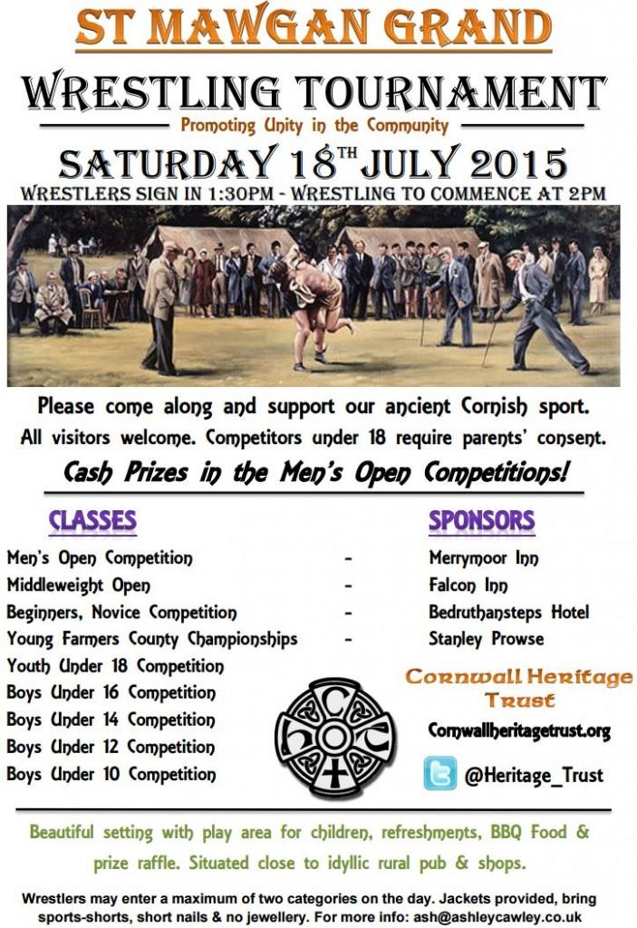 2015 Cornish Wrestling Poster