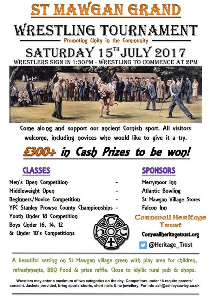 Cornish Wrestling St Mawgan Tournament 2017